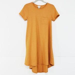 LuLaRoe • Orange Carly Dress size XXS